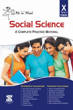 Me N Mine Social Science First Term For Class-X CBSE