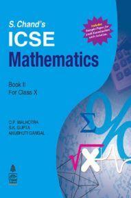 Schand ICSE Mathematics For Class - X Book-II