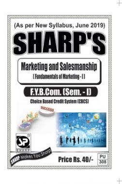 Marketing & Salesmanship (Fundamentals of Marketing - I)