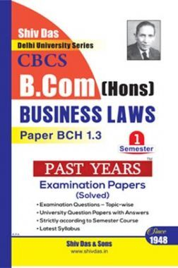 Business Laws For B.Com Hons Semester 1 For Delhi University