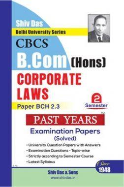 Corporate Laws For B.Com Hons Semester 2 For Delhi University