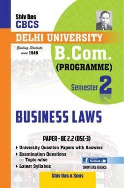 Business Laws For B.Com Prog Semester 2 For Delhi University