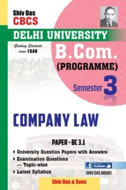 Company Law For B.Com Prog Semester 3 For Delhi University