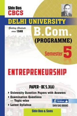 Entrepreneurship For B.Com Prog Semester 5 For Delhi University