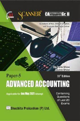 Shuchita Prakashan Scanner CA Intermediate Group-II (New Syllabus) Paper-5 Advanced Accounting (Applicable For May 2021)