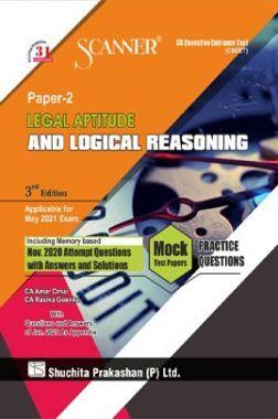 Shuchita Prakashan Model Scanner CSEET Paper - 2 Legal Aptitude And Logical Reasoning
