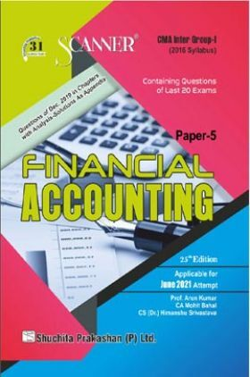 Scanner CMA Inter Group-I (2016 Syllabus) Paper-5 Financial Accounting