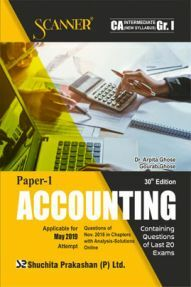 Shuchita Prakashan Solved Scanner CA Intermediate (New Syllabus) Group-I Paper-I Accounting For May 2019 Exam