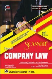 Shuchita Prakashan Scanner CS Executive Programme Module-I (2017 Syllabus) Paper-2 Company LawFor June 2019 Exam