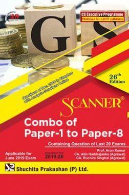 Shuchita Prakashan Scanner CS Executive Programme Module - I & II (2017 Syllabus) Combo Of Paper-1 To Paper-8 (June-2019)