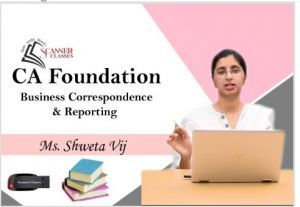 CA Foundation Paper 2B Business Correspondence & Reporting (Pen Drive + Printed Book)