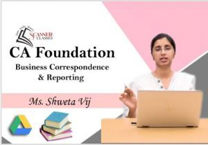 CA Foundation Paper 2B Business Correspondence & Reporting (Google Drive + Printed Book)