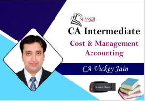 CA Intermediate Paper 3 Cost and Management Accounting (Pen Drive + Printed Book)