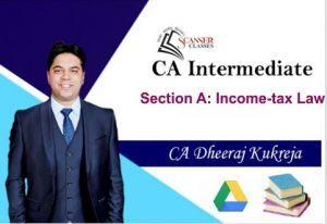 CA Intermediate Paper 4 Taxation (Direct Tax) (Google Drive + Printed Book)