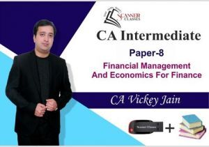 CA Intermediate Paper 8 Financial Management and Economics for Finance (Pen Drive + Printed Book)