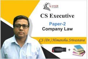 CS Executive Paper 2 Company Law (Pen Drive + Printed Book)