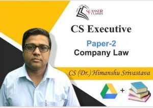 CS Executive Paper 2 Company Law (Google Drive + Printed Book)