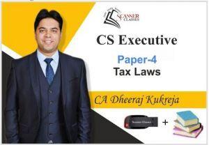 CS Executive Paper 4 Tax Laws (Pen Drive + Printed Book)