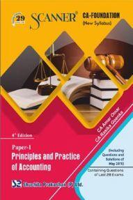 Shuchita Prakashan Scanner CA Foundation on Principles And Practice Of Accounting  (New Syllabus) Paper - 1 For Nov 2019 Exam