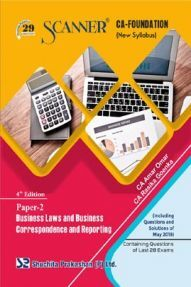 Shuchita Prakashan Scanner CA Foundation on Business Laws And Business Correspondence And Reporting (New Syllabus) Paper - 2 For Nov 2019 Exam