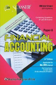 Shuchita Prakashan CMA Inter Scanner on Financial Accounting (2016 Syllabus) Group - I Paper - 5 For Dec 2019 Exam