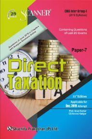 Shuchita Prakashan CMA Inter Scanner on Direct Taxation (2016 Syllabus) Group - I Paper - 7 For Dec 2019 Exam
