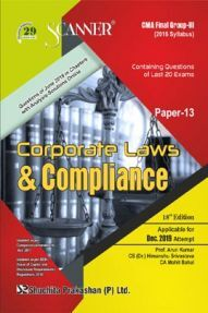 Shuchita Prakashan Scanner CMA Final (2016 Syllabus) Group - III Paper - 13 Corporate Laws & Compliance For Dec 2019 Exam