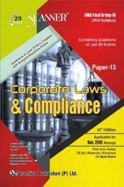 Shuchita Prakashan Scanner CMA Final (2016 Syllabus) Group - III Paper - 13 Corporate Laws & Compliance For Dec 2019 Exam