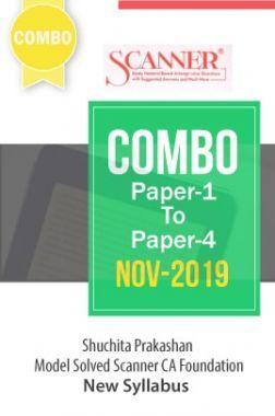 Shuchita Prakashan Scanner CA Foundation (New Syllabus) Combo Of Paper-1 To Paper-4 (Nov-2019)
