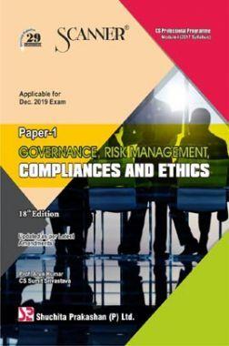 Shuchita Prakashan Scanner on Governance, Risk Management, Compliances And Ethics for CS Professional Programme Module-I (2017 Syllabus) Paper-1 For Dec 2019 Exam