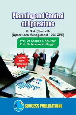 Planning And Control Of Operations