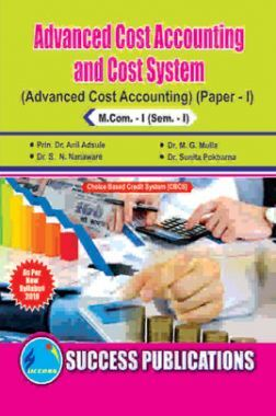 Advanced Cost Accounting And Cost System