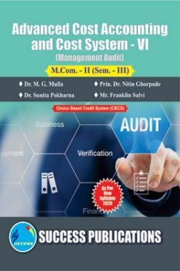 Advanced Cost Accounting & Cost System (Management Audit) (Paper-VI)