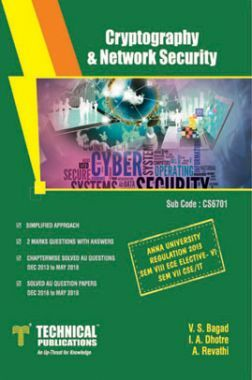 Cryptography & Network Security For Anna University R-13 (VII-CSE/IT - CS6701)