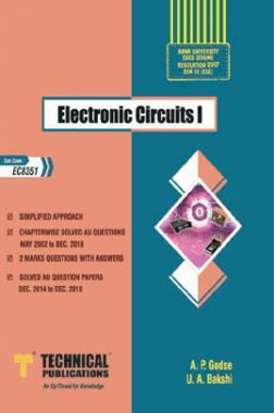 Download Electronic Circuits I For Anna University R-17 CBCS (III-ECE -  EC8351) by A  P  Godse, U  A  Bakshi PDF Online