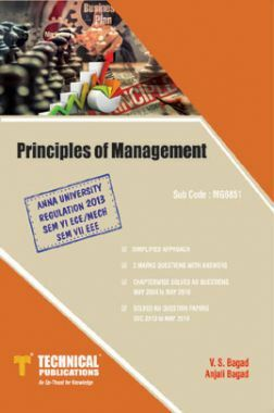 Principles Of Management For Anna University R-13 (VII-EEE - MG6851)