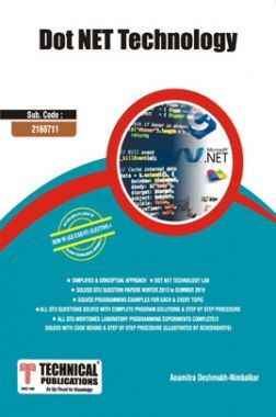 .Net Technology For GTU University (VI - CSE/IT -  2160711)