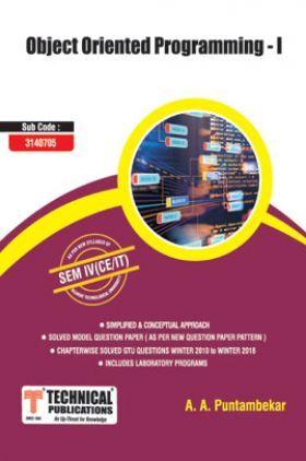Object Oriented Programming - I For GTU University (IV - CSE/IT - 3140705)
