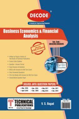 Business Economics & Financial Analysis For JNTU-H 18 Course (II - II - Common - SM402MS)