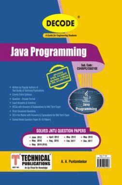 Java Programming For JNTU-H 16 Course (III - II - CSE/IT - CS621OE)