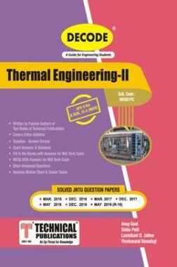 Thermal Engineering-II  For JNTU-H 16 Course (III - II - Mech. - ME601PC)
