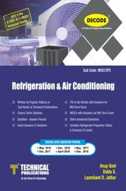 Refrigeration And Air Conditioning For JNTU-H 16 Course (III - II - Mech. - ME612PE)
