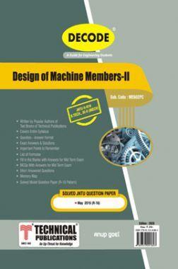 Design of Machine Members-II For JNTU-H 16 Course (III - II - Mech. - ME602PC)