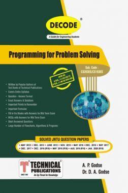 Programming For Problem Solving For JNTU-H 18 Course (I - II - EEE/CSE/IT - CS203ES)