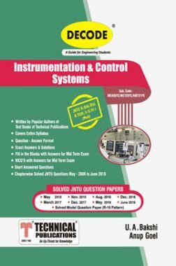 Instrumentation & Control Systems For JNTU-H 18 Course (II - II - Mech. - ME405PC)