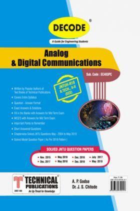 Analog & Digital Communicaions For JNTU-H 18 Course (II - II - ECE - EC403PC)