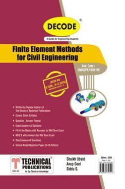 Finite Element Methods For Civil Engineering For JNTU-H 16 Course (IV - II - Civil - CE861PE)