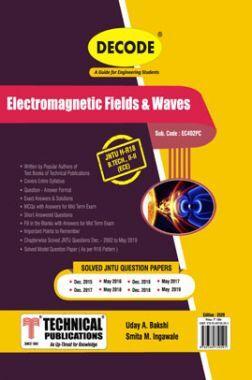 Electromagnetic Field & Waves For JNTU-H 18 Course (II - II-ECE- EC402PC)