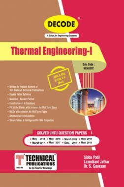 Thermal Engineering - I For JNTU-H 18 Course (II - II - Mech. - ME403PC)