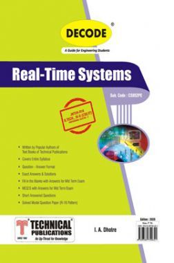 Real Time Systems For JNTU-H 16 Course (IV - II-CSE - CS852PE)